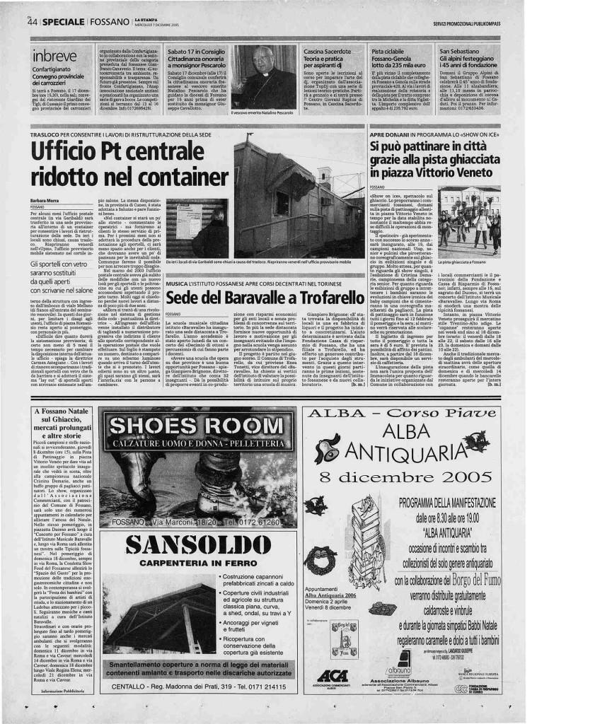 2005.12.07_La stampa_Sede del Baravalle a Trofarello