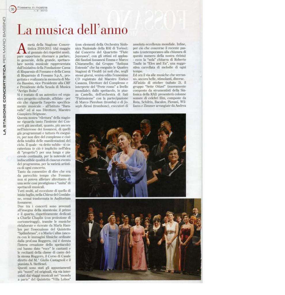 2010.09_Fossano in Mostra_La musica dell'anno