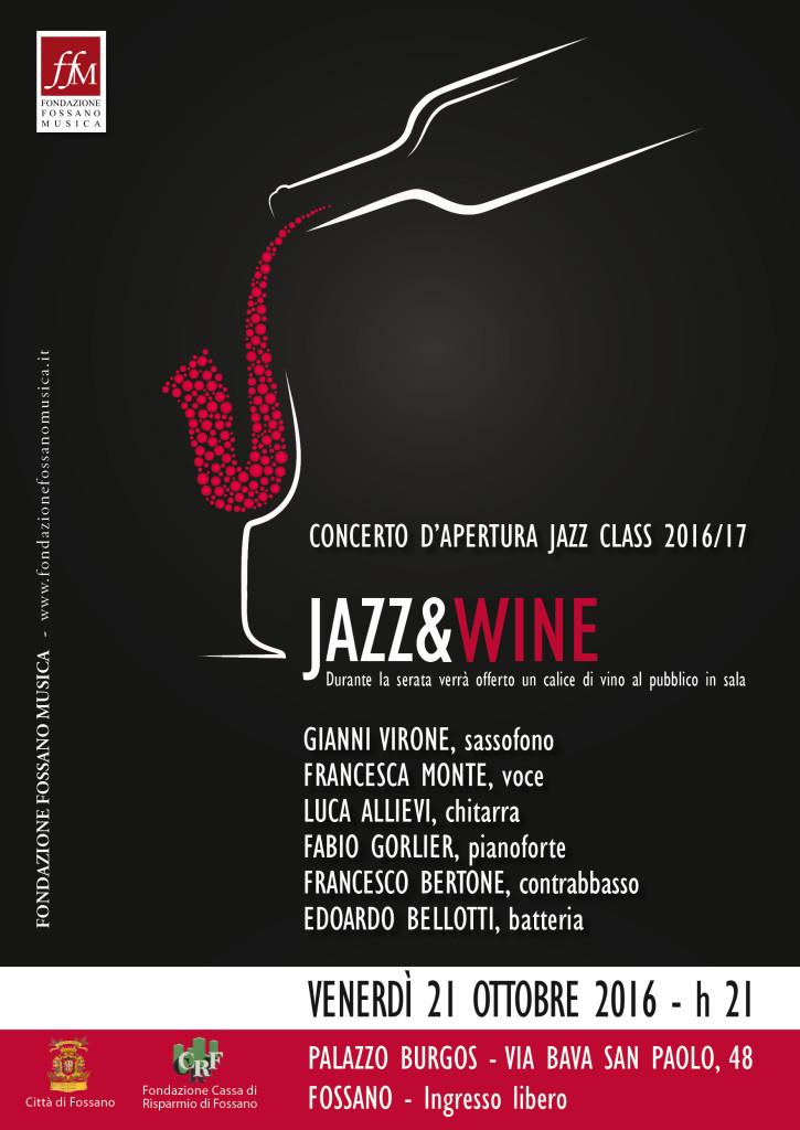 Locandina concerto Jazz 21 ottobre 2016