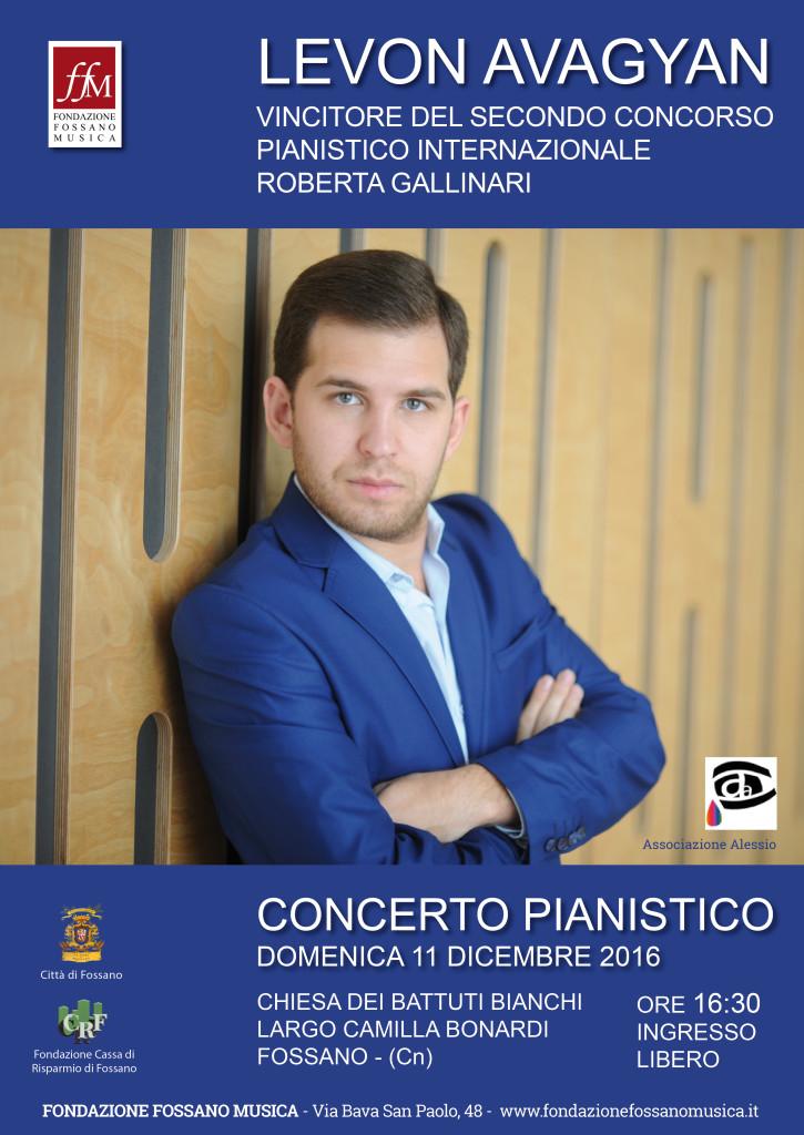 Locandina Concerto pianistico 11 dicembre 2016