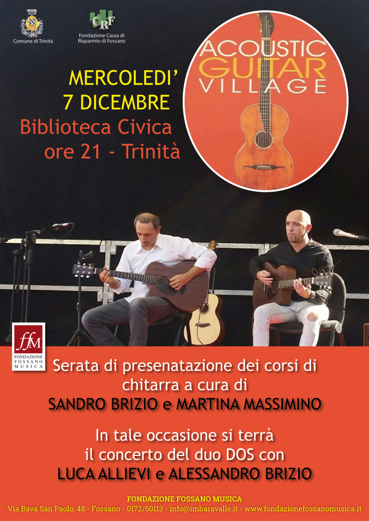 Locandina per concerto Chitarre a Trinità