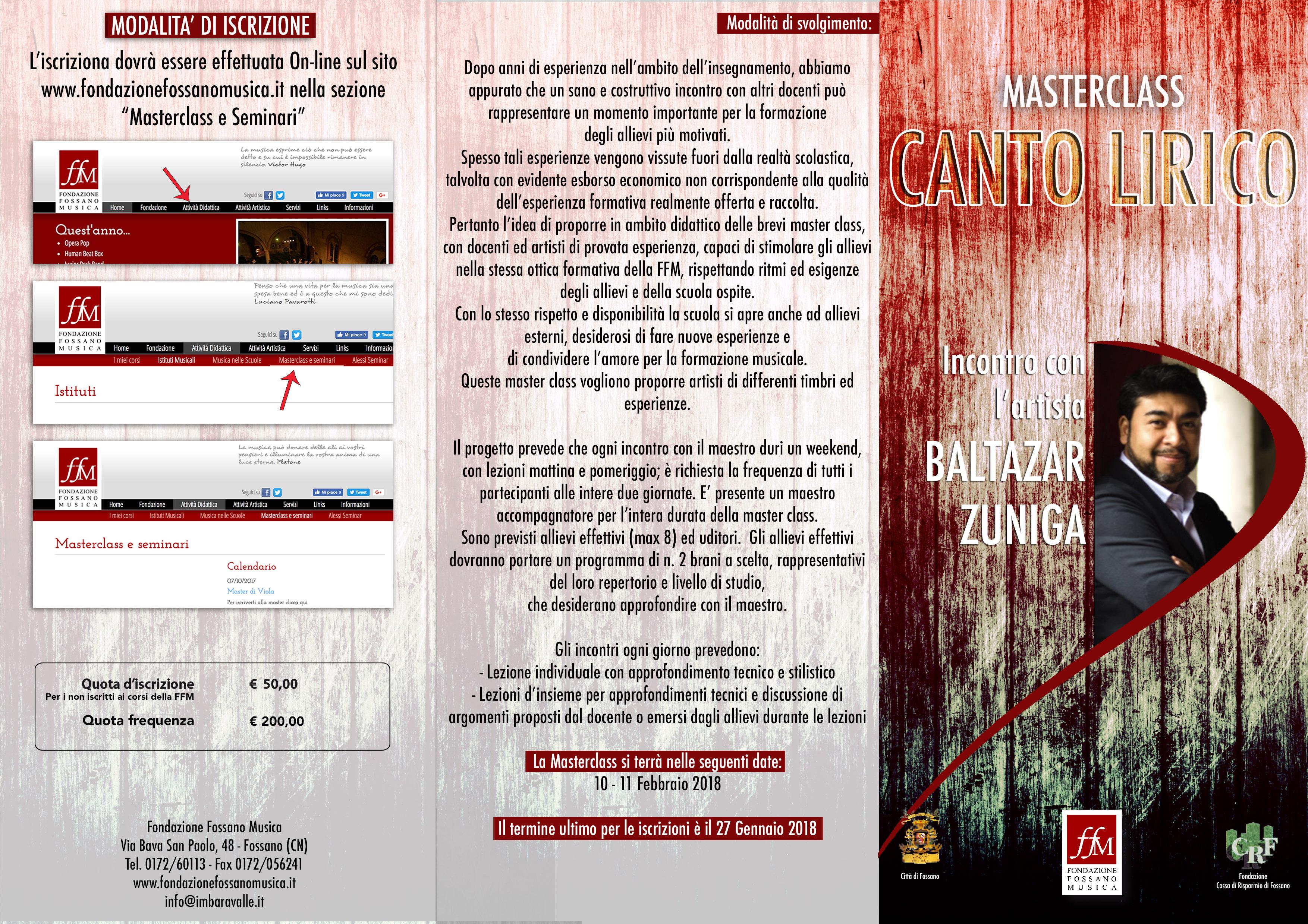 Brochure Masterclass Zuniga Fronte