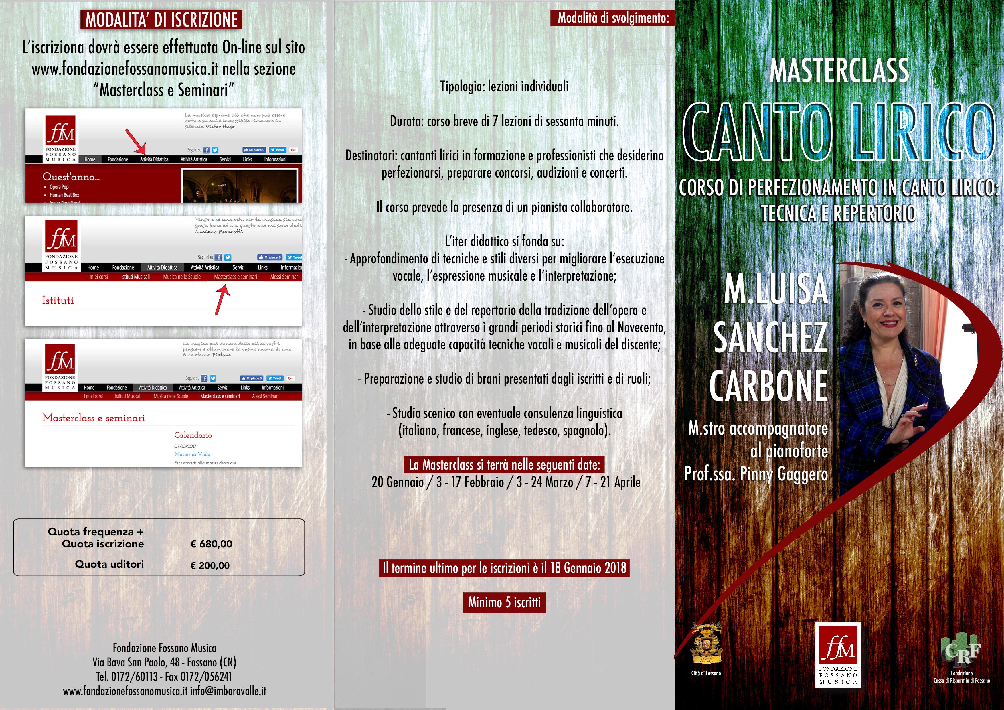 Brochure Masterclass Sanchez Fronte