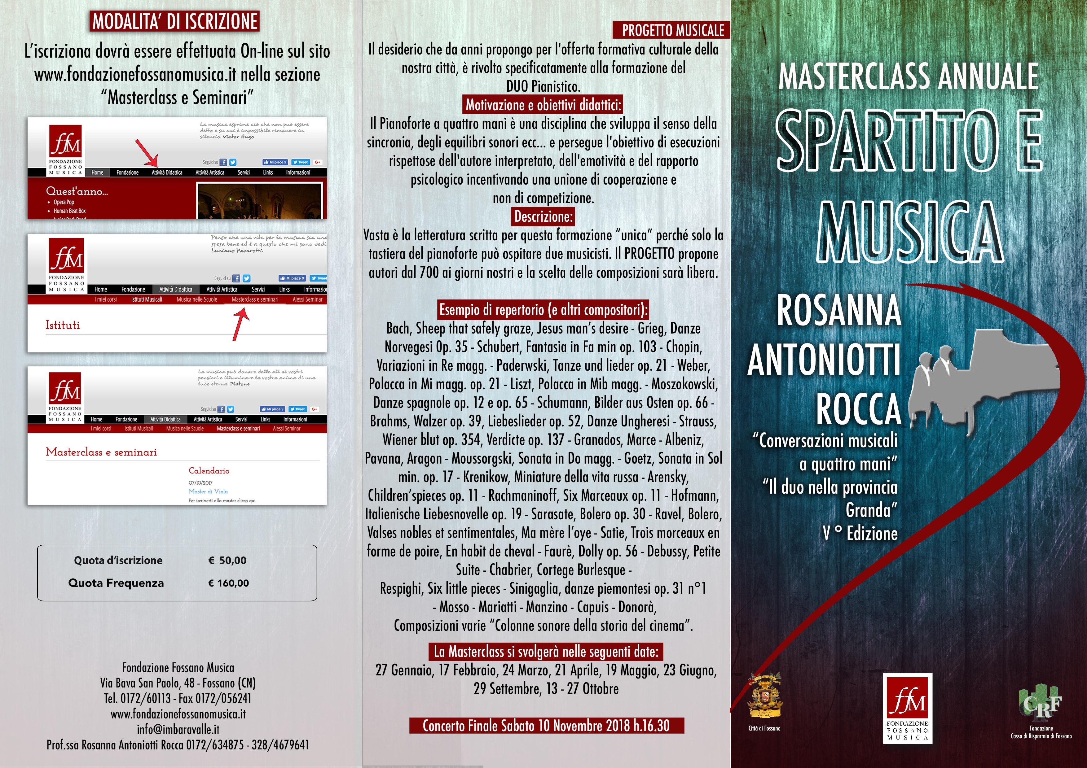 Brochure Masterclass Antoniotti Spartito e Musica Fronte